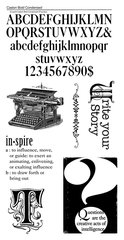 Graphic 45 Typewriter Stamp Sets