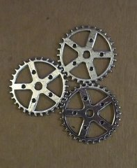 Steampunk Gear Charms (3)