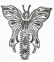 Moth Woman Stamp