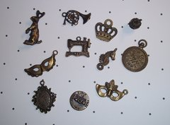 Bronze tone charms