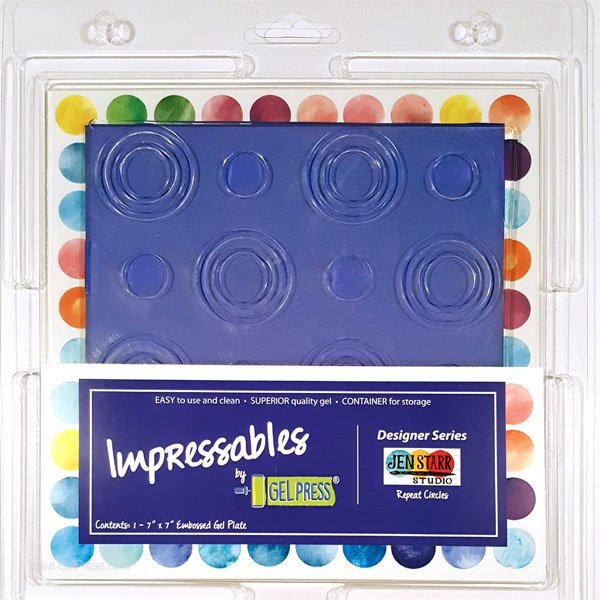 Gel Press Impressable Circles