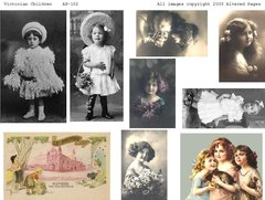 102 Victorian Children Printable