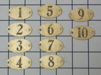 French Enamel numbers chip board