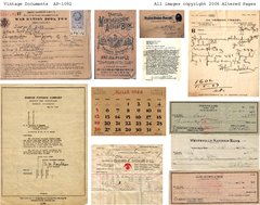 1092 Vintage Documents Printable