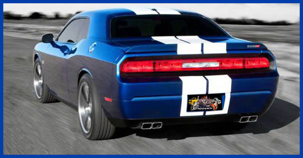 Dodge Challenger Solid Rally Racing Factory Stripe Style