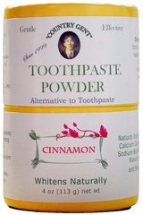"""Country Gent"" Tooth Powder, Cinnamon, 4 oz Compostable Packaging"