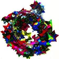 Star Of David Wire Garland Multi Color 18 Ft. Long