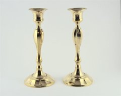 Candleholder Brass Size: 7 Inches Tall X 3 Inches Diam Base