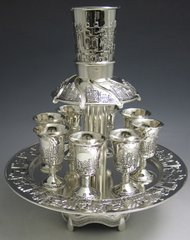 Kiddush Fountain Silver Plated - 8 Cups