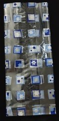 Loot Bag Clear w/Star of David Design - Size: 4 in x 9.5 in L - Packs of 12