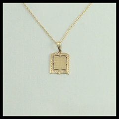 "Charm Ten Commandments 14 Kt Gold 1/2"" X1/2"" ,  Chain Sold Separately"