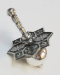 Dreidel Sterling Silver Butterfly 1-1/2 Inches Tall , Made In Israel, One Of A Kind,