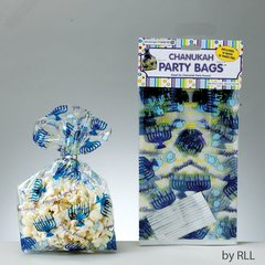 Chanukah Party Bags, Great For Chanukah Party Favors! Includes: 12 Bags And 12 Twist Ties