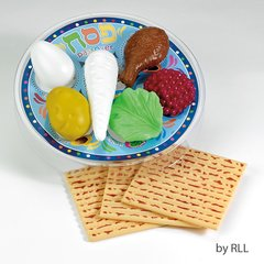 PASSOVER DELUXE PLAY SEDER SET, PLASTIC, 10 PCS
