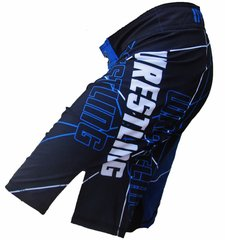 Wrestling Cage Shorts (Blue)