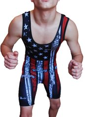"USA ""Flags & Swords"" Singlet"
