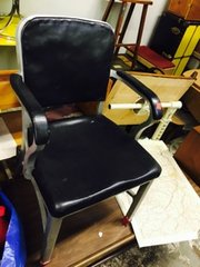 vintage 1950s steel occasional chair