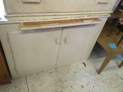 shabby chic cabinet desk with pull-out work space
