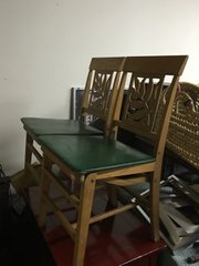 set of four antique folding chairs