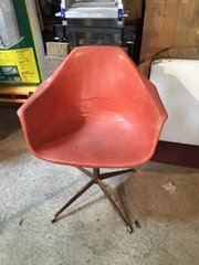 "vintage ""eames"" shell armchair"