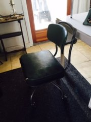 super cool antique industrial steel desk chair