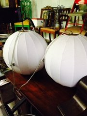 1 globe cloth orb pendent lamps