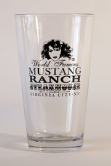 Mustang Ranch Steakhouse pint-glass