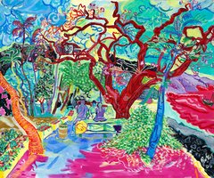 Hookena Red Tree Giclee Print