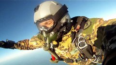 28,000 - 30,000 ft. SOLO Halo skydive for license jumpers