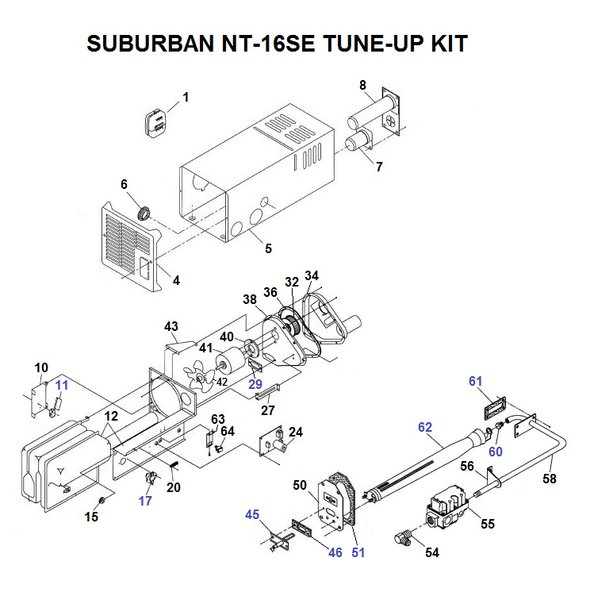 suburban rv furnace parts diagram suburban furnace model nt 16se parts pdxrvwholesale