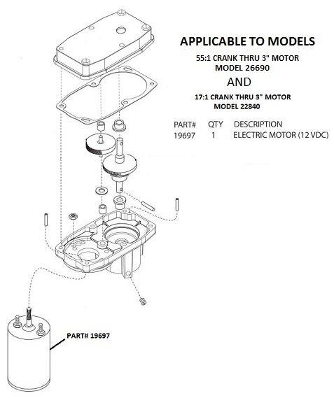Barker Slide Out Motor Only 12 Volt 19697 Pdxrvwholesale