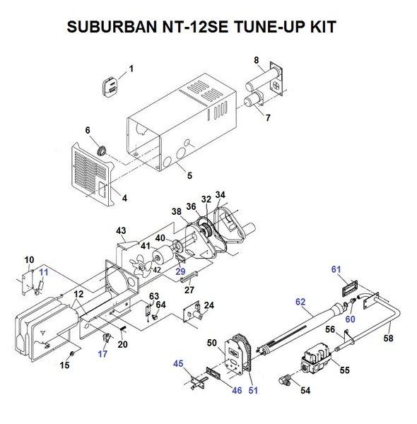 suburban furnace model nt-12se parts | pdxrvwholesale suburban rv furnace parts diagram