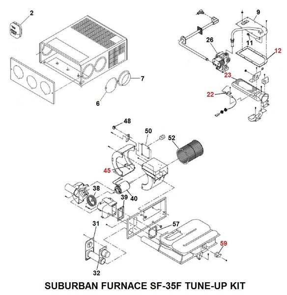 Suburban Furnace Model SF 35F Tune Up Kit pdxrvwholesale