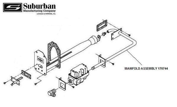suburban furnace manifold assembly 170744