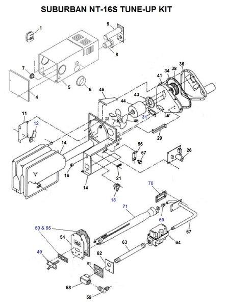 frigidaire furnace parts diagram suburban furnace parts diagram suburban furnace model nt-16s parts | pdxrvwholesale