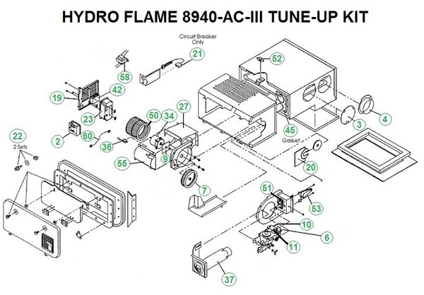Atwood Hydroflame Furnace Model 8940 Ac Iii Tune Up Kit on transfer switches wiring diagram