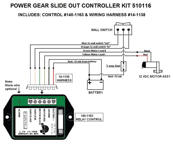 power gear slide out controller kit, upgraded version ... rv power transfer switch wiring diagram rv slide out switch wiring diagram #6