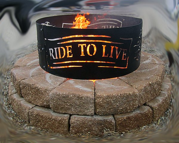 Man Cave Usa : Metal fire ring v twin man cave collection made in the