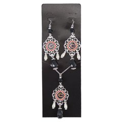 NFL Chicago Bears Baroque Necklace and Earrings Collection
