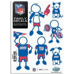NFL New York Giants Small Family Decals