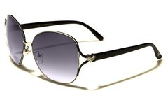 96005 Romance Large Round Aviators Black