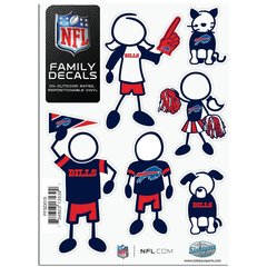 NFL Buffalo Bills Small Family Decals