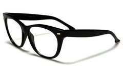 Retro Cat Eye Clear Lens Black