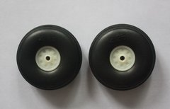 "Nylon PU Wheels  2.25"" with Plastic Hub - pair"