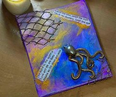 *All Money Goes to Charity* Mixed Media Octopus, Catch the Mist