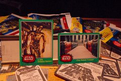 "STAR WARS 1977 trading cards, rare C-3PO ""obscene"" card and #209 , ORIGINAL"