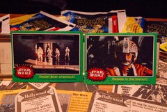 STAR WARS 1977 trading cards #243 & 242, Rebel Pilot, Stormtroopers ORIGINAL