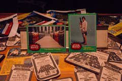 STAR WARS 1977 trading cards #255 & #209 Luke, Han, Leia, Chewie, Rebel Troops ORIGINAL