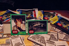 STAR WARS 1977 trading cards #258 & #236, Luke Skywalker, Han Solo, Rebel crew ORIGINAL