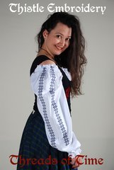 Wench Chemise - Embroidered -Celtic, Thistle